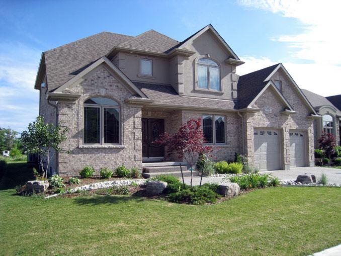 Pk custom homes exterior 6 for Unique home exteriors